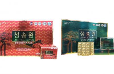 So sánh 2 loại tinh dầu thông đỏ Cheong Song Won 180 viên